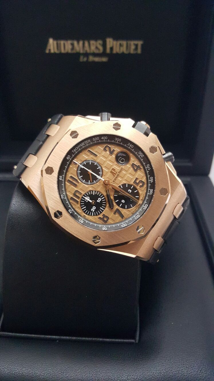 Pre order audemars piguet royal oak offshore rose gold pre owned watches singapore for Royal oak offshore rose gold 42mm