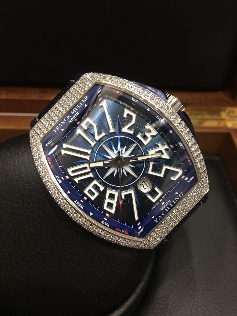 Sold brand new franck muller vanguard yachting pre owned watches singapore for Franck muller watches